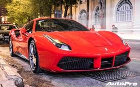 Doanh nhân Nguyễn Quốc Cường và Đàm Thu Trang dạo phố cùng siêu xe Ferrari 488 Spider mới tậu