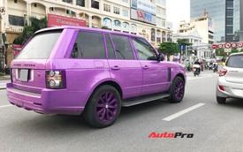 Chiếc Range Rover Autobiography sơn màu tím 'mộng mơ' thu hút sự chú ý trên đường phố thủ đô