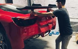 Siêu xe Ferrari 458 Italia thứ 2 tại Việt Nam độ thân rộng, một chi tiết lấy cảm hứng từ mẫu hypecar LaFerrari