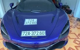 Sau 3 tháng về nước, McLaren 720S màu tím độc nhất Việt Nam của đại gia Vũng Tàu chính thức ra biển số