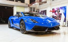 Đại gia đồ hiệu 'khét tiếng' Hà Nội đổi màu Lamborghini Gallardo độc nhất Việt Nam đón Tết