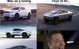 """Xe bán tải """"siêu bền"""" của tỷ phú Elon Musk bị dân mạng chế ảnh châm biếm"""