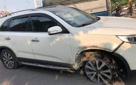 """Tài xế Kia Sorento """"điên"""" gây tai nạn rồi bỏ chạy nát lốp mới chịu dừng lại"""