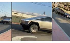 Tesla Cybertruck xuống phố làm ngỡ ngàng người nhìn