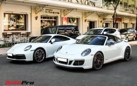 Porsche 911 Carrera S của doanh nhân Nguyễn Quốc Cường xuất hiện cùng dàn xe đắt tiền trên phố Sài Gòn