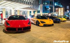 Nguyễn Quốc Cường và đại gia Sài Gòn tụ họp gần 10 siêu xe mừng thôi nôi con trai trưởng đoàn Car Passion