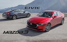 So sánh Mazda3 vs Honda Civic: Cuộc chiến xe Nhật tiền tỷ hạng C chưa từng xuất hiện