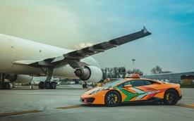 Chơi lớn như người Ý: Dùng cả siêu xe Lamborghini làm xe dẫn đường trong sân bay