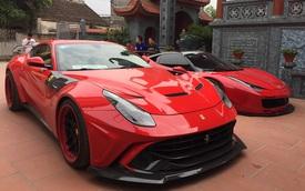 Bộ đôi Ferrari 458 Italia và F12berinetta độ độc nhất Việt Nam bất ngờ xuất hiện trong nhà đại gia Hoàng Kim Khánh