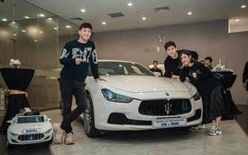 Vợ chồng Trang Lou sắm Maserati Ghibli nhưng cư dân mạng lại chú ý đến chiếc mui trần mà bé Xoài được tặng