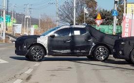 Bán tải Hyundai Santa Cruz tiếp tục xuất hiện, có thêm điểm mới