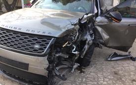 Hà Nội: Range Rover Velar 'toang' khi va chạm liên tiếp hàng loạt xe khác, tài xế nghi say xỉn