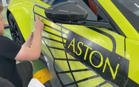 Aston Martin V8 Vantage độc nhất Việt Nam của đại gia Hoàng Kim Khánh nổi bật hơn với chi tiết này