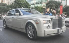 Rolls-Royce Phantom trắng đeo biển cặp thần tài nhỏ của đại gia Sài Gòn