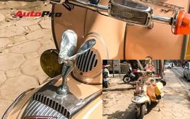 Dân chơi độ logo Rolls-Royce cho xe máy Lambretta hàng hiếm tại Hà Nội