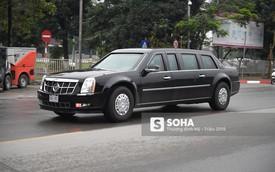 """[ẢNH] Chuyên xa The Beast của TT Trump cùng dàn xe đặc chủng """"hầm hố"""" trên đường phố Hà Nội"""