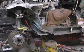 70 giờ đưa xe sang Audi đồng nát về như mới
