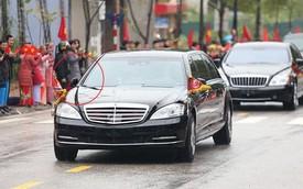Chi tiết lạ trên chiếc Mercedes-Benz S600 bọc thép của ông Kim Jong-un khiến nhiều người đặt ra dấu hỏi lớn