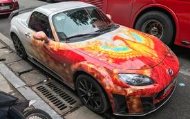 Mazda MX-5 của dân chơi Hà Nội trang trí táo bạo bằng phượng hoàng lửa