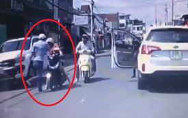 Xác định danh tính và mời tài xế Kia Sorento đánh phụ nữ chở con nhỏ ngày Tết đến trụ sở công an làm việc