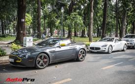 Bộ đôi Aston Martin và Maserati mui trần hàng hiếm du xuân trên phố Sài Gòn