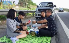 CSGT truy tìm người livestream cảnh gia đình ăn nhậu trên cao tốc Nội Bài - Lào Cai trưa mùng 2 Tết