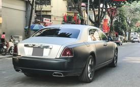Rolls-Royce Ghost EWB cực hiếm tại Việt Nam dán decal như của ông chủ cafe Trung Nguyên