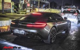 Aston Martin DB11 V8 lại xuất hiện cùng Mercedes-AMG SLS GT Final Edition của nhà chồng Hà Tăng, tuy nhiên lần này lại có sự khác biệt