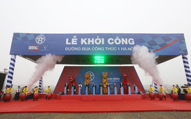 Hà Nội khởi công đường đua F1: Diện tích 88 ha, dài hơn 5,5 km, 22 góc cua, hoàn tất vào tháng 3/2020