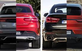 Porsche Cayenne Coupe vs BMW X6 vs Mercedes-Benz GLE Coupe vs Audi Q8: Lợi thế cho kẻ đến sau