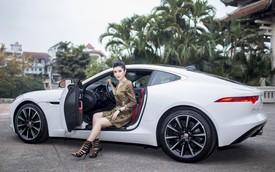 Mới 24 tuổi, Á hậu Huyền My đã sắm riêng cho mình chiếc Jaguar F-Type Coupe giá 6 tỷ đồng