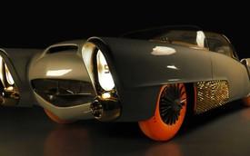 Xe mạ vàng, lốp phát sáng, đầu như chiến đấu cơ chiếm spotlight hơn cả Bugatti