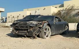 Siêu xe Ferrari bị vứt chỏng chơ sau tai nạn, chủ xe không có ý định lấy