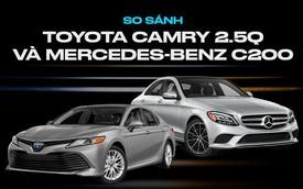 Toyota Camry vs Mercedes-Benz C-Class: Chọn giá rẻ nhiều công nghệ hay thương hiệu hạng sang với hơn 1 tỷ đồng