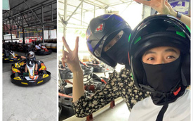 Cường Đô-la, Đàm Thu Trang 'rủ' Subeo đi đua xe Go Kart trong dịp nghỉ lễ 30/4 - 1/5