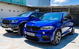 Dân chơi Bạc Liêu chi 1 tỷ đồng biến hóa BMW X5, ghép cặp với Ford Ranger Raptor