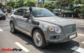 Bentley Bentayga gắn ống thở bất ngờ xuất hiện trong đoàn xe Hành trình từ trái tim 2019