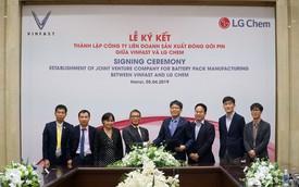 VinFast và LG Chem thành lập liên doanh sản xuất pin cho xe điện và các thiết bị điện tử