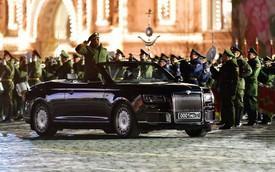 Limousine như Rolls-Royce của tổng thống Putin mở mui, chạy thử cho lễ diễu binh