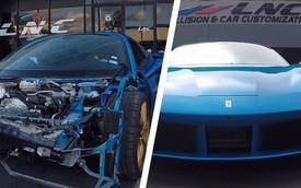 Ferrari 488 Spider tai nạn nát đầu được làm lại như mới