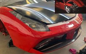 Xuất hiện hình ảnh cho thấy Ferrari 488 GTB của ca sĩ Tuấn Hưng đang trong quá trình 'hồi sinh'