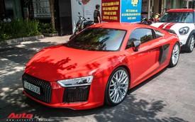 Audi R8 V10 Plus từng của Đông Nhi - Ông Cao Thắng được đại gia Sài Gòn mua lại, lên phong cách 'vặt logo' tương tự Cường Đô-la