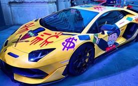 Cả phố tắc nghẽn xem nghệ sĩ đường phố trang trí Lamborghini Aventador bằng graffiti