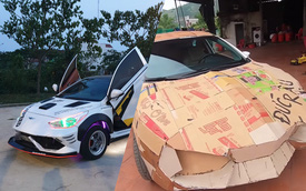"""Dân chơi Việt chế """"siêu xe"""" Lamborghini từ... Kia Cerato, Hyundai Accent và Chevrolet Cruze"""