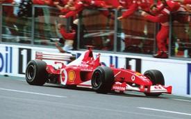 Xe đua Ferrari huyền thoại gắn liền với mùa giải thành công nhất của Michael Schumacher được đem đấu giá