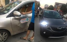 Sau va chạm, VinFast Fadil xước nhẹ, Toyota Vios móp bẹp cửa xe