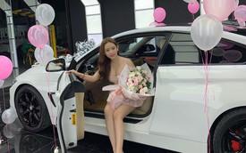 """Thúy Vi khoe ảnh tậu BMW 420i giá 2 tỷ đồng, thẳng thắn nói về tin đồn giàu có nhờ làm """"gái ngành"""""""