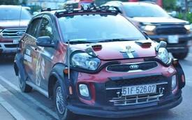 Dân chơi Sài Gòn độ Kia Morning cực dị: thân xe kiểu wide-body, lắp lốp dự phòng SUV