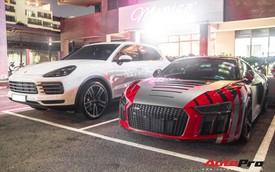 Cường 'Đô-la' đi Porsche Cayenne S mới tậu còn siêu xe Audi R8 V10 Plus 'nhờ' bạn lái hộ