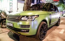 Range Rover LWB Autobiography của dân chơi Long An độ mâm hàng hiệu, dán màu quân đội khiến nhiều người tưởng là của ông Đặng Lê Nguyên Vũ